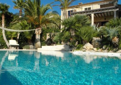 Poolbereich Finca Valldemossa